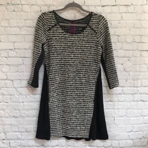 Anthropologie Maeve Black Mixed Materials Dress